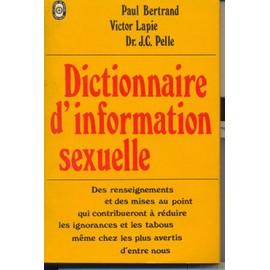 DICTIONNAIRE D'INFORMATION SEXUELLE