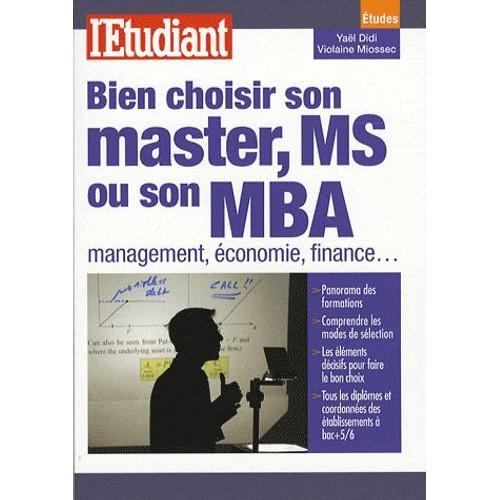 Bien choisir son master ms ou son mba management conomie finance - Comment choisir son visiophone ...