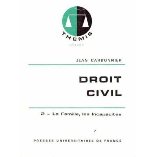83d641be0b1 Droit Civil Tome 2 - La Famille de jean carbonnier - Rakuten