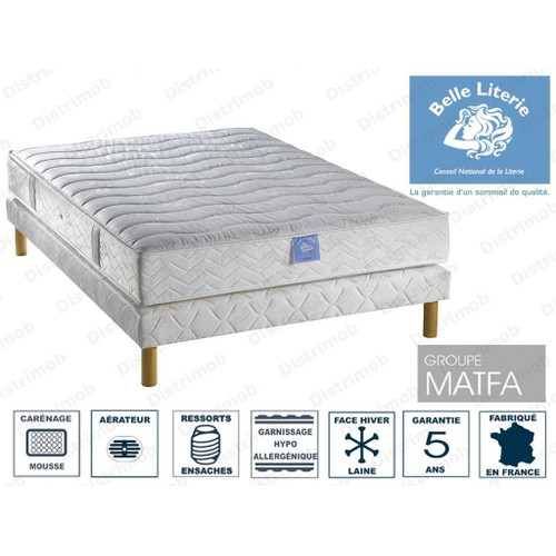 ensemble matelas et sommier 140 x 190 cm achat vente neuf d 39 occasion priceminister rakuten. Black Bedroom Furniture Sets. Home Design Ideas