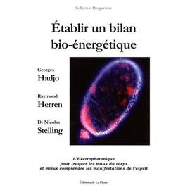 Etablir Un Bilan Bio-Énergétique - L