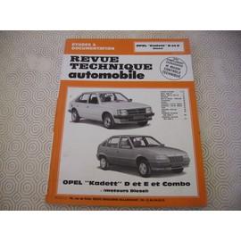 Opel Kadett D et E moteurs diesel Etai