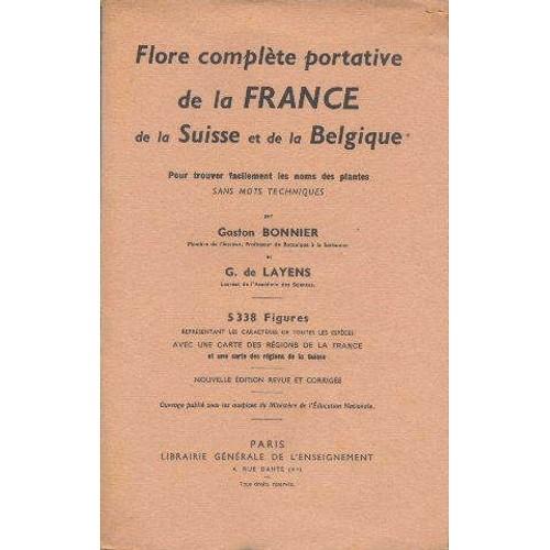 Flore Compl 232 Te Portative De La France De La Suisse Et De border=
