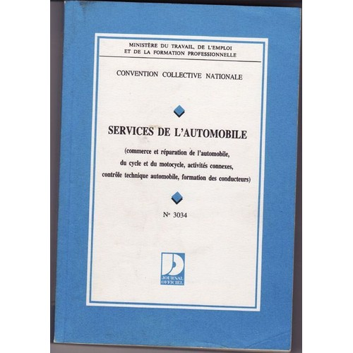 Convention Collective Nationale Services De L Automobile Commerce