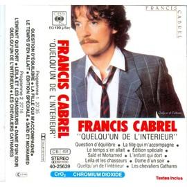 Francis cabrel quelqu 39 un de l 39 interieur 1983 cassette audio for Francis cabrel quelqu un de l interieur