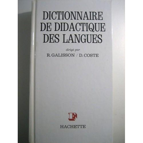 dictionnaire de didactique des langues pdf