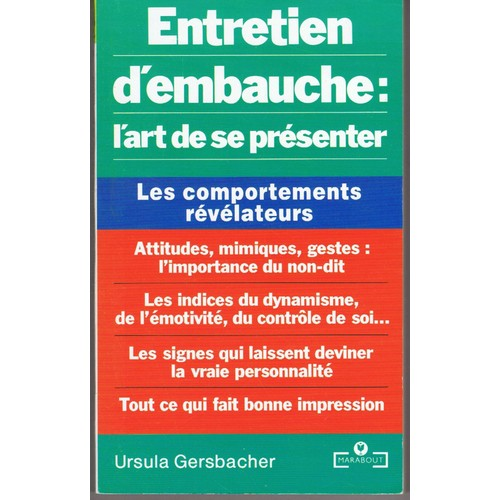 Entretien D Embauche L Art De Se Presenter De Ursula Gersbacher