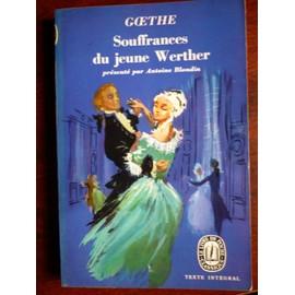 Souffrances Du Jeune Werther de Goethe
