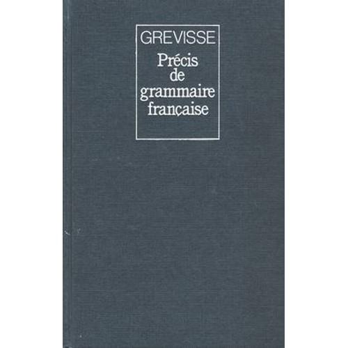 GREVISSE EN LIGNE PDF