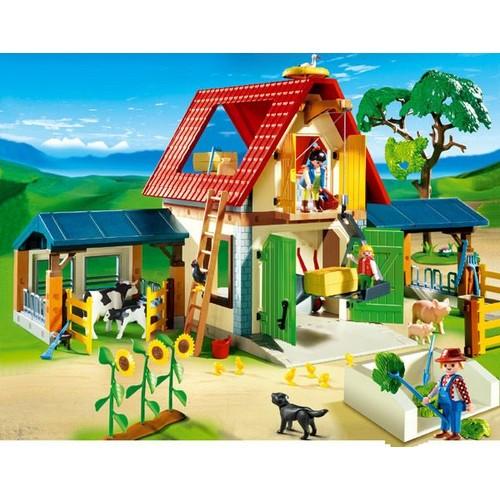 playmobil 4490 la vie la ferme ferme achat et vente. Black Bedroom Furniture Sets. Home Design Ideas