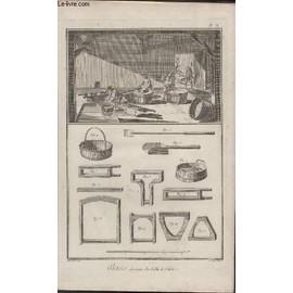 Gravure 18eme Siecle - Planches Originales De L'encyclopedie Diderot D'alembert In Folio - N�10 - Glaces Lavage Du Sable Et Calein