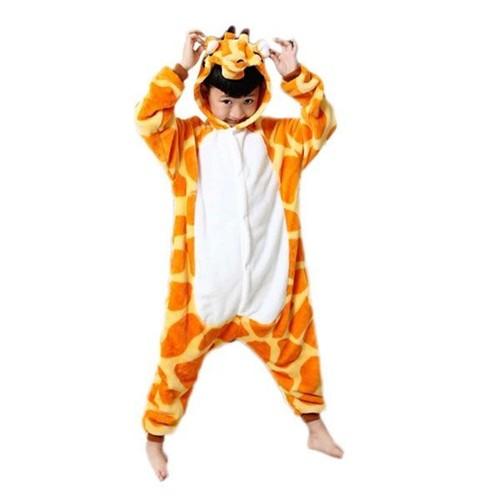 9337aab9037d8 ... Combinaison Grenouillère Pyjama Enfant Peluche Douce - Licorne Panda  Bourriquet Girafe Totoro Salamèche Etc - Enfant 5 À 12 Ans - Déguisement  Cosplay