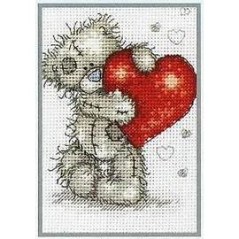 """Grille Point De Croix """"Me To You Love Hearts"""" - Achat et vente"""