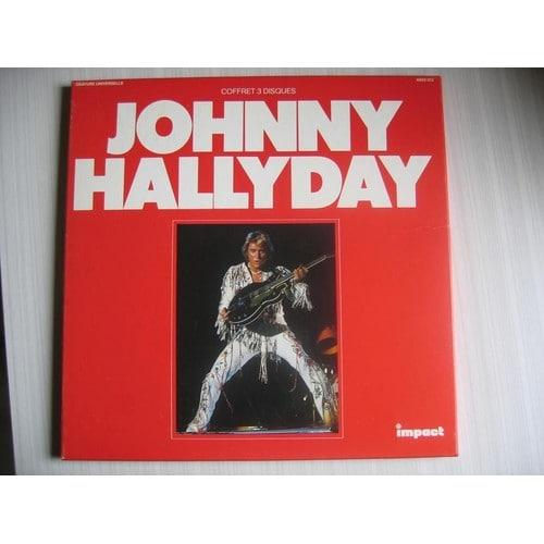 coffret 3 disques de johnny hallyday en vinyle 33 tours pas cher ou d 39 occasion. Black Bedroom Furniture Sets. Home Design Ideas
