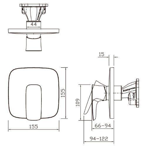 hansgrohe mitigeur douche encastre pas cher ou d 39 occasion. Black Bedroom Furniture Sets. Home Design Ideas