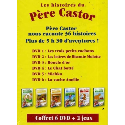 les histoires du p re castor coffret 6 dvd 2 jeux dition limit e de pascale moreaux. Black Bedroom Furniture Sets. Home Design Ideas