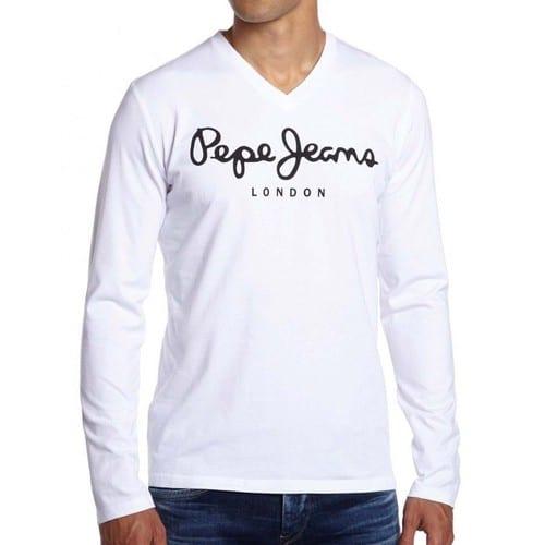 0251ec70a381 Homme-Blanc-T-Shirt-Pepe-Jeans-Logo-1138400683 L.jpg
