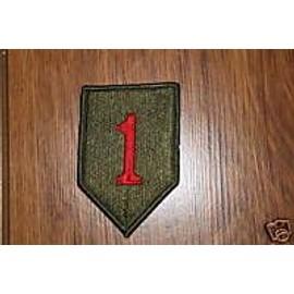 Insigne Tissu D'epaule De La 1 Er Division D'infanterie Us