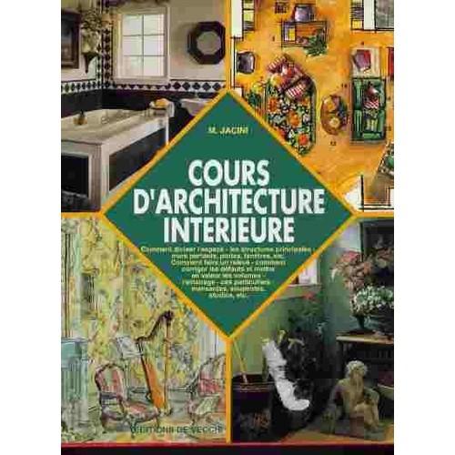 cours d 39 architecture int rieure de m jacini neuf occasion. Black Bedroom Furniture Sets. Home Design Ideas
