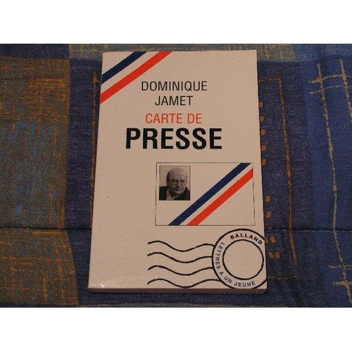 carte de presse lettres un jeune journaliste de dominique jamet format broch livre. Black Bedroom Furniture Sets. Home Design Ideas