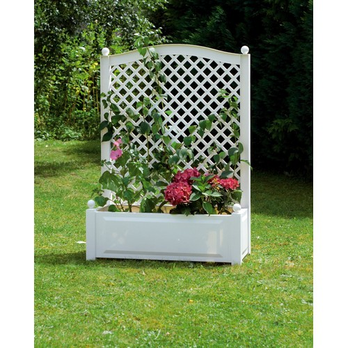 Jardini re achat vente neuf d 39 occasion - Jardiniere pvc blanc ...