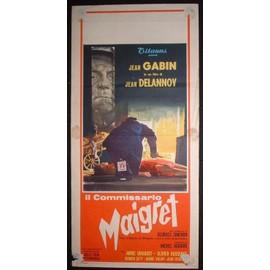 Jean Gabin * Georges Simenon * Maigret Tend Un Piege * Delannoy Jean - 1957 - Affiche De Cinema Originale Italienne - 33*70 Cm * (Jean Gabin ; Annie Girardot ; Jean Desailly) *