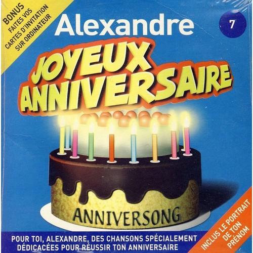 Anniversong Joyeux Anniversaire Alexandre Cd Album Rakuten