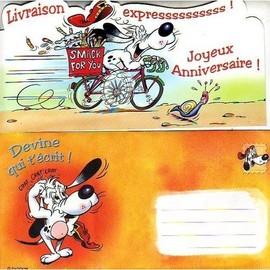 Joyeux Anniversaire - Carte Postale + Enveloppe - Achat et vente