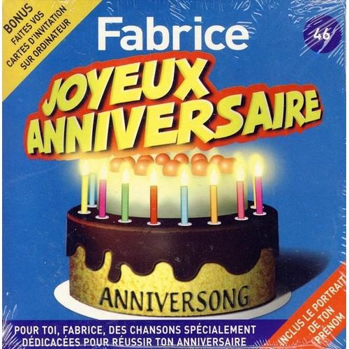 Anniversong Joyeux Anniversaire Fabrice Cd Album Rakuten