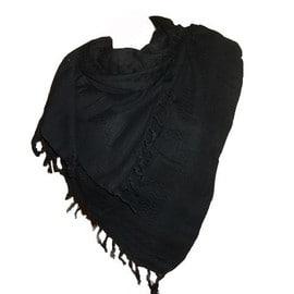 keffieh palestinien noir blanc 100 coton cheche charpe foulard. Black Bedroom Furniture Sets. Home Design Ideas
