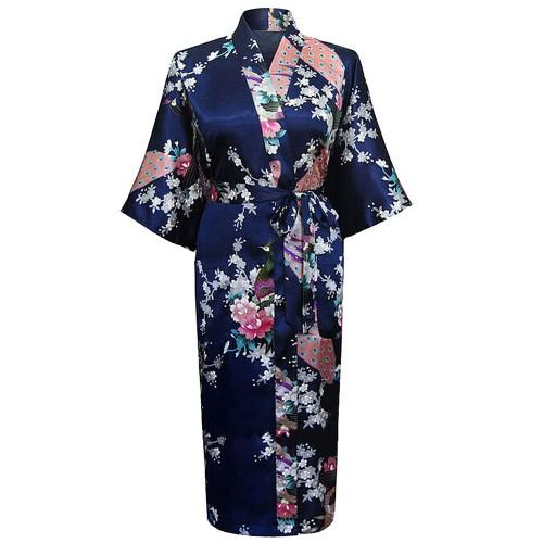 Robe de chambre japonaise femme - Robe de chambre noir femme ...
