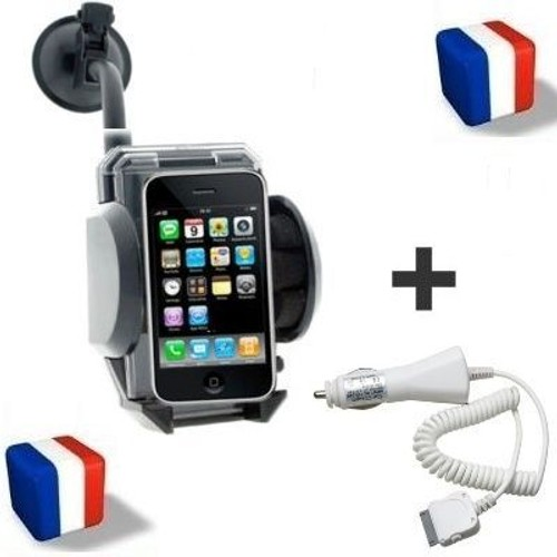 kit support auto chargeur voiture pour apple iphone 3g. Black Bedroom Furniture Sets. Home Design Ideas