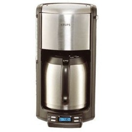 Krups pro aroma therm steel programmable cafeti re pas cher - Cafetiere isotherme programmable pas cher ...
