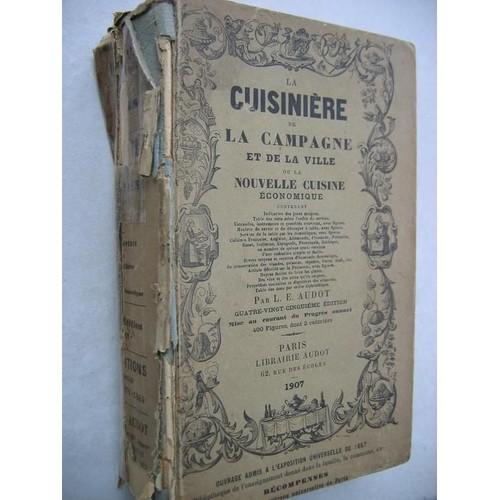 cuisiniere de la campagne et de la ville ou nouvelle cuisine