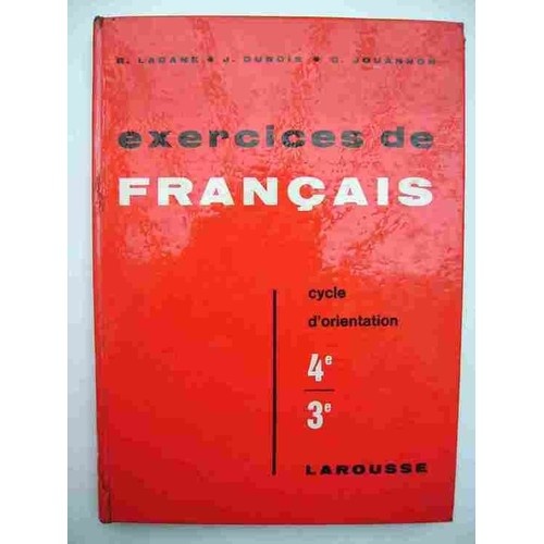 Exercices De Francais 4eme 3eme Cycle D Orientation