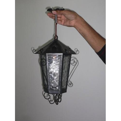 lanterne lectrique en fer forg achat et vente priceminister. Black Bedroom Furniture Sets. Home Design Ideas