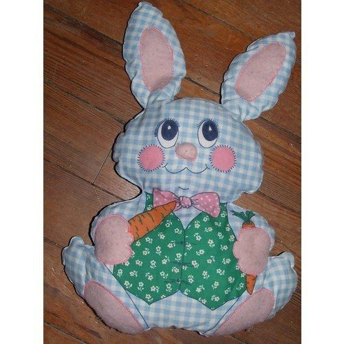 lapin jeannot doudou vintage ancien 70 39 s patter pillow peluche patron confection main vichy. Black Bedroom Furniture Sets. Home Design Ideas