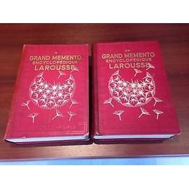 Grand M�mento Encyclop�dique Larousse - Deux Volumes - 1936 de Larousse