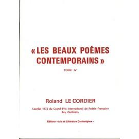 Les Beaux Po�mes Contemporains de Le Cordier Roland
