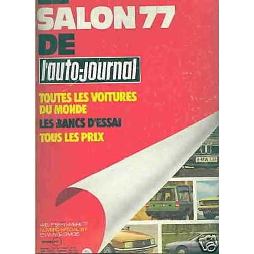 le salon de l 39 auto journal 1977 le salon de l 39 auto journal 1977 de collectif. Black Bedroom Furniture Sets. Home Design Ideas