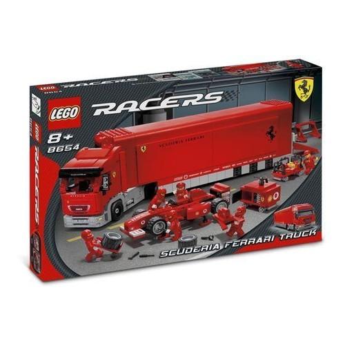 lego racers 8654 camion scuderia ferrari neuf et d 39 occasion. Black Bedroom Furniture Sets. Home Design Ideas