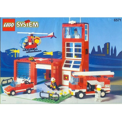 lego system 6571 la caserne des pompiers achat et vente. Black Bedroom Furniture Sets. Home Design Ideas