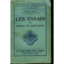 Les Essais De Michel De Montaigne de pierre villey