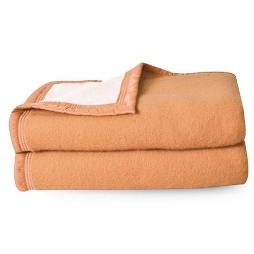 15738e59fa96 linge couverture laine marron linnea pas cher ou d occasion sur Rakuten