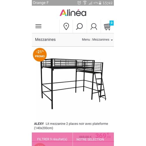 lit mezzanine 2 places pas cher ou d 39 occasion sur priceminister rakuten. Black Bedroom Furniture Sets. Home Design Ideas
