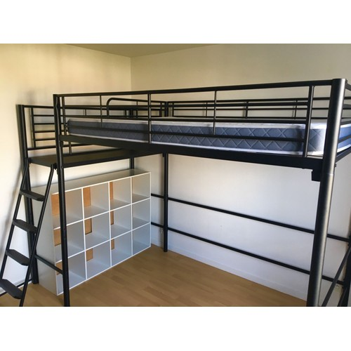 lit en mezzanine 2 places excellent mezzanine ikea places. Black Bedroom Furniture Sets. Home Design Ideas