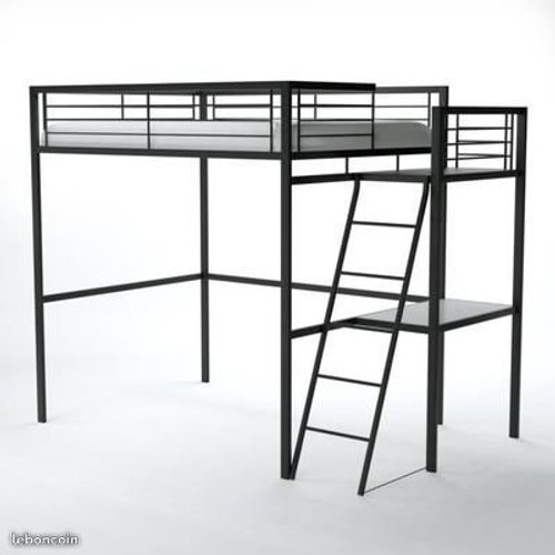 lit mezzanine 140 x 190 cm achat vente neuf d 39 occasion priceminister rakuten. Black Bedroom Furniture Sets. Home Design Ideas