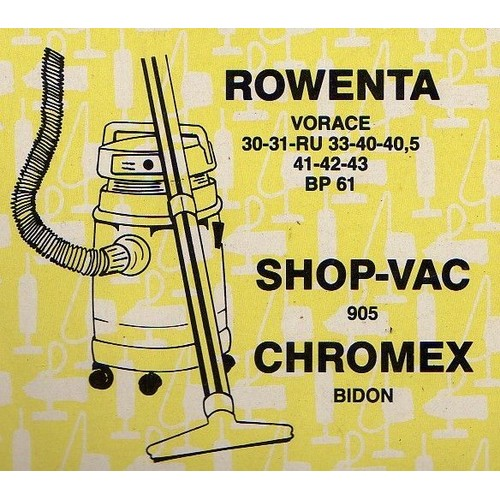 offer buy  Lot Sacs Aspirateur Rowenta Vorace RU BP Shop VAC Chromex Bidon Menage repassage
