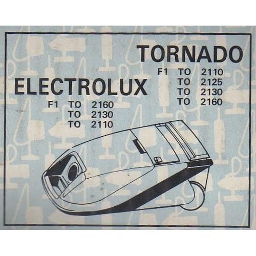 lot de 10 sacs aspirateurs aspifilter pour tornado to 2110 2125 2130 2160 electrolux f1 to. Black Bedroom Furniture Sets. Home Design Ideas