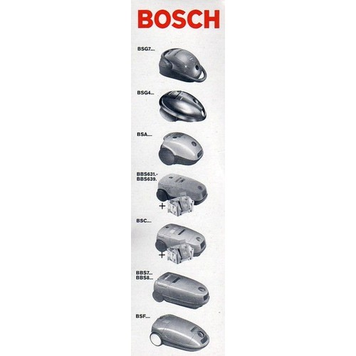 lot de 5 sacs aspirateur bosch megafilt supertex type g pour bsg7 bsg4. Black Bedroom Furniture Sets. Home Design Ideas